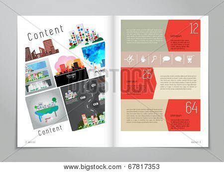 Design layout for magazine or brochure