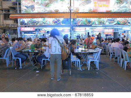 Street restaurant outdoor dining in Kuala Lumpur