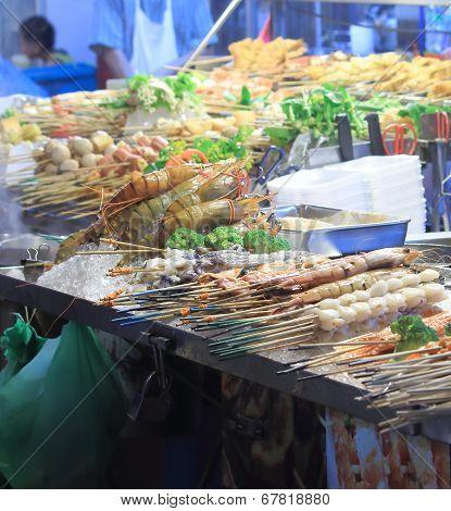 Street Food BBQ Kuala Lumpur Malaysia