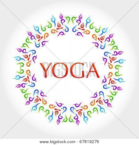 Yoga. The idea for the design. Vector.