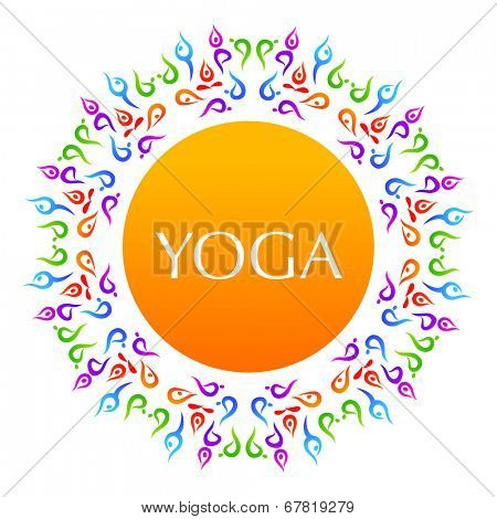 Complex asanas. Yoga. The idea for the sign Yoga - studio.