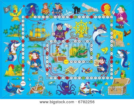 "Board game ""Pirates"""