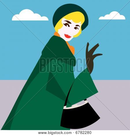 Woman pop vector illustration