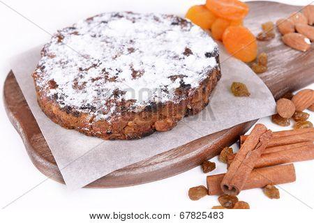 Delicious cake panforte close-up