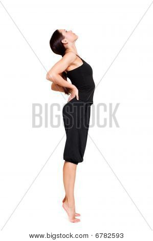 Sportswoman Doing Stretch Exercise
