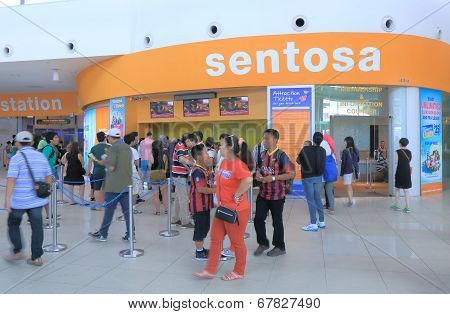 Sentosa Island ticket office Singapore