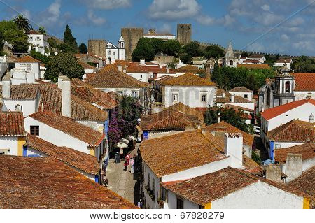 View Of Town Obidos, Portugal