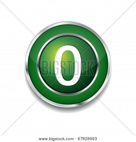 0 Number Circular Vector Green Web Icon Button