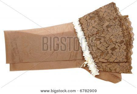 Stockings And White Garter