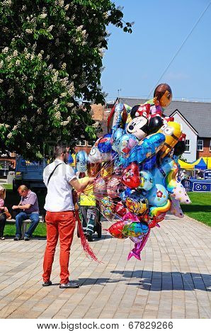 Balloon seller, Stratford-upon-Avon.