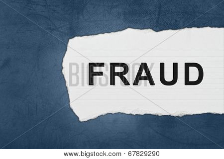 Fraud With White Paper Tears