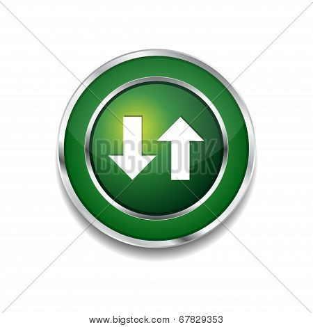 Data Circular Vector Green Web Icon Button