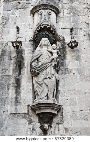 Fragment Of Cathedral Of Saint Mary Of Girona