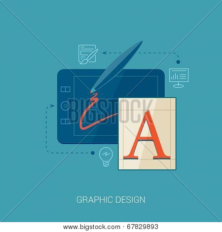 Flat style graphic design vector icon illustration