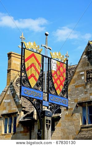 Town sign, Chipping Campden.