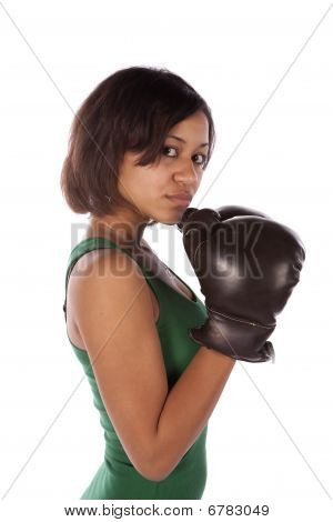 Female Boxer Side View