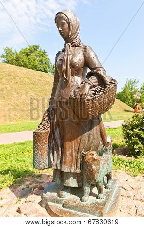 Sculpture Of Farm Woman