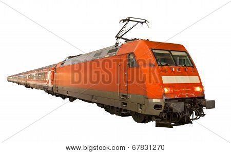 German Train Isolated On White Background