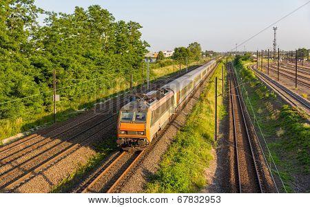 Regional Express Train In Strasbourg, France