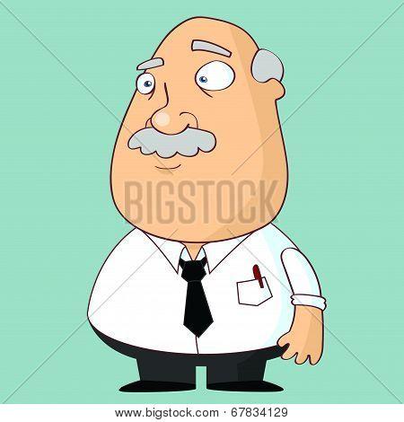 Fat Man In Necktie