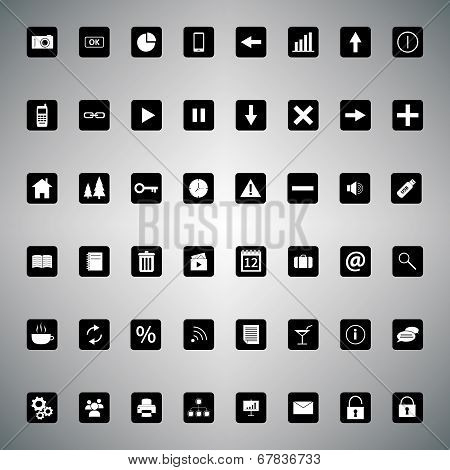 Black and white universal icon bundle