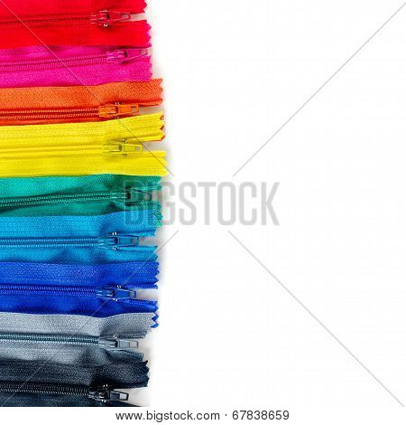 Set Of Zipper Isolated