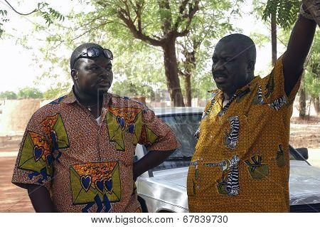 Two Friends In Burkina Faso