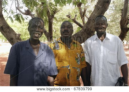 Three Friends Of Burkina Faso