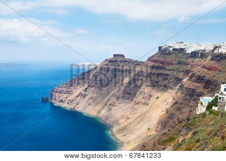 Santorini island  and Aegan sea