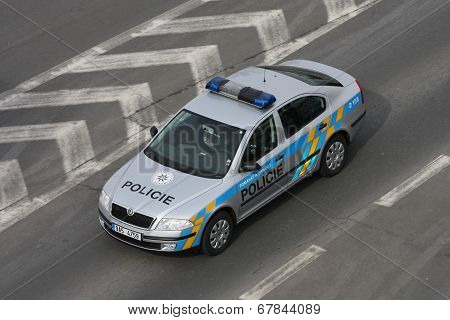 Police Car Of The Czech Republic