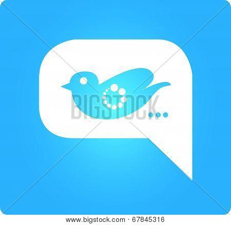 bird with bubble speech
