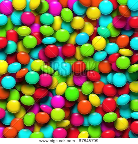 Background With Candy