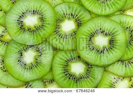 Background With Fruit Kiwi