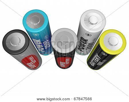 Five Aa Batteries