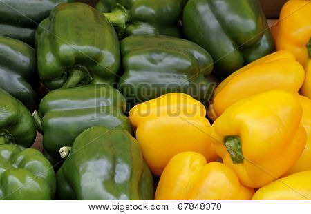 Green And Yellow Bell Peppers