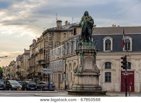 Monument Of Louis-urbain-aubert De Tourny In Bordeaux, France