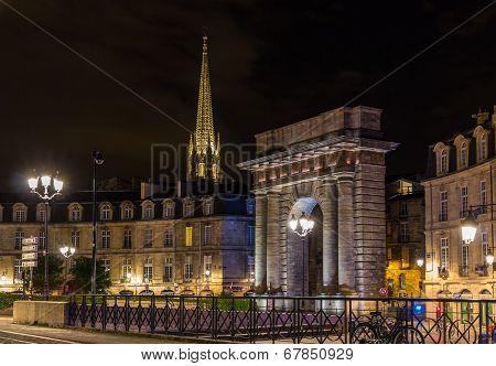 Porte De Bourgogne In Bordeaux, France