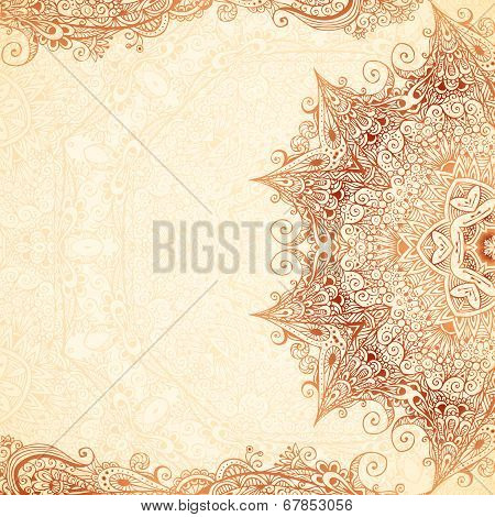 Vintage vector hand-drawn background.