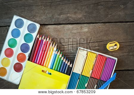 Items for children's creativity, background