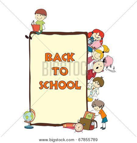 Kids school sketch poster