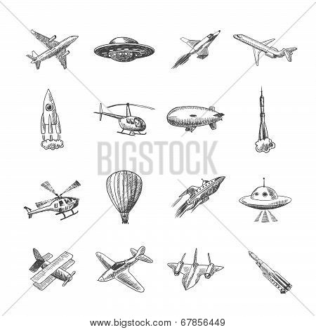 Aircraft icons sketch