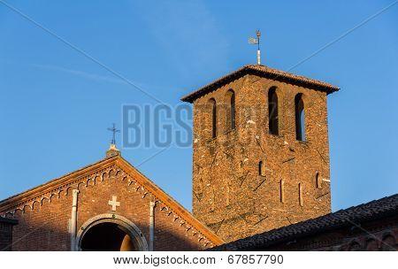 Belfry Of Basilica Di Sant'ambrogio In Milan