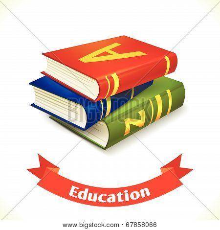 Education icon textbook