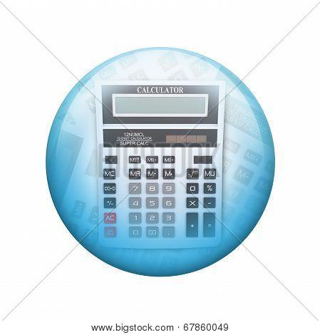 Big calculator. Spherical glossy button