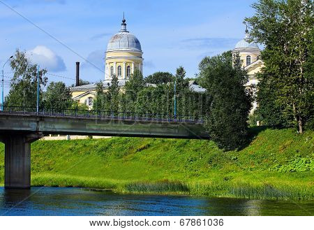 Cathedral Complex In The Small Russian City Of Torzhok