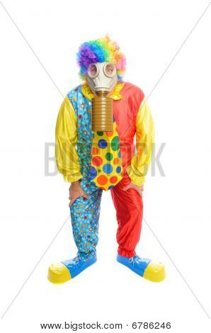 Some Clownwearing A Gas Mask