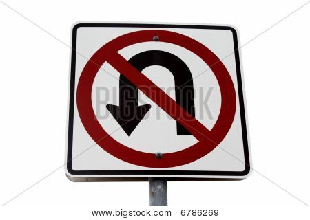 No Turn Sign Light