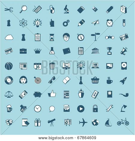 Minimalist flat ui vector design monochrome element and icon set.