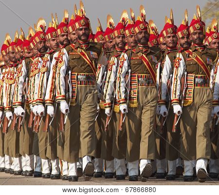 Indian Soldiers Marching