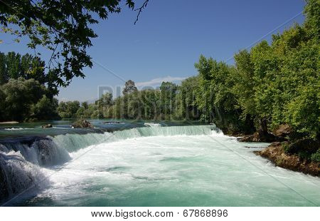 Manavgat Waterfall In Turkey